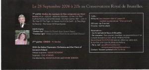 Credo 2006-09-28 Conservatoire Royal in Brussels Billet 002