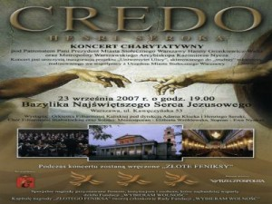 Credo 2007-09-23 Basilic of Warsaw flyer