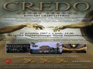 Credo 2007-09-23 Basilic of Warsaw flyer